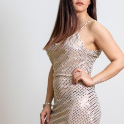 A20 Anel lux μεταλιζέ μινι φόρεμα - 57429-1