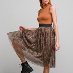 A20 Anel midi φούστα με τούλι μπρονζέ - 122421a