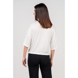 Α20 Μπλούζα ελαστική από βισκόζι σε φαρδιά γραμμή - 47881-1
