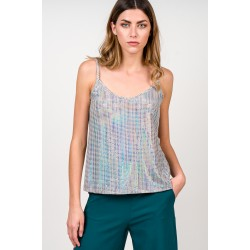 A20 Anel Μπλούζα ελαστική lurex με τιράντες - 47947