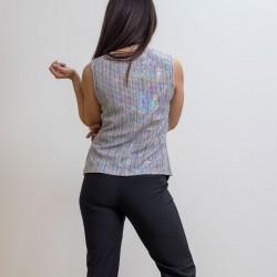 A20 Anel Μπλούζα ελαστική lurex αμάνικη - 47963