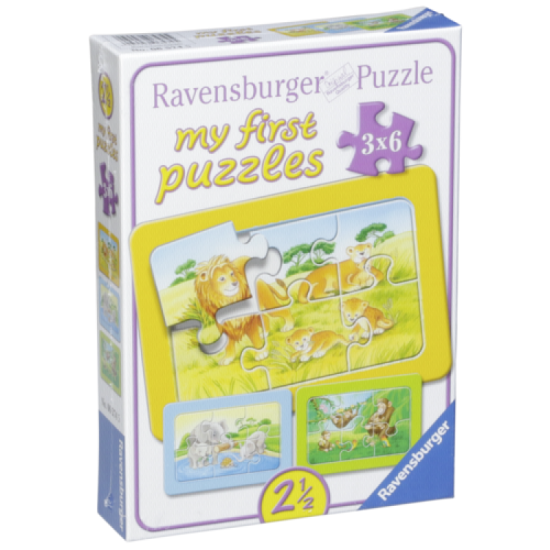 Ravensburger Ape, Elephant and Lion My first puzzle