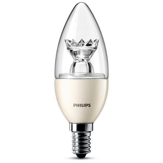 Philips LED Candle 8718291741923 6W (40W) E14 DIM Warm white 470 lm clear