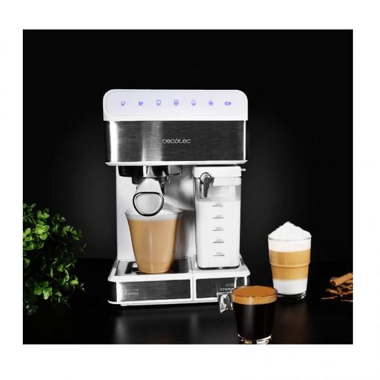 Ημιαυτόματη Καφετιέρα Espresso Power Instant-ccino 20 Touch Serie Bianca 20 Bar Χρώματος Λευκό Cecotec CEC-01557