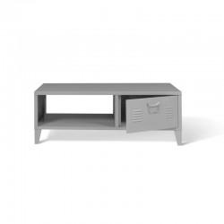 Μεταλλικό Τραπέζι Σαλονιού 100 x 50 x 36 cm Χρώματος Γκρι Storvik Idomya 30087272