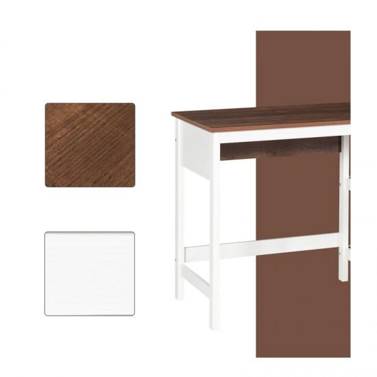 Ξύλινο Γραφείο με 2 Ράφια 76.2 x 48 x 110 cm HOMCOM 836-314