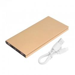 Power Bank 20000 mAh με 2 Θύρες USB Χρώματος Χρυσό SPM UK175