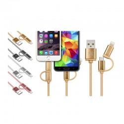 Καλώδιο USB to Lightning ή Micro USB 2 σε 1 για iOS & Android SPM R13689