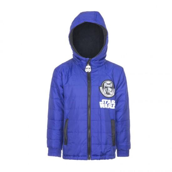 Παιδικό Μπουφάν Χρώματος Μπλε Star Wars Disney DHQ1154