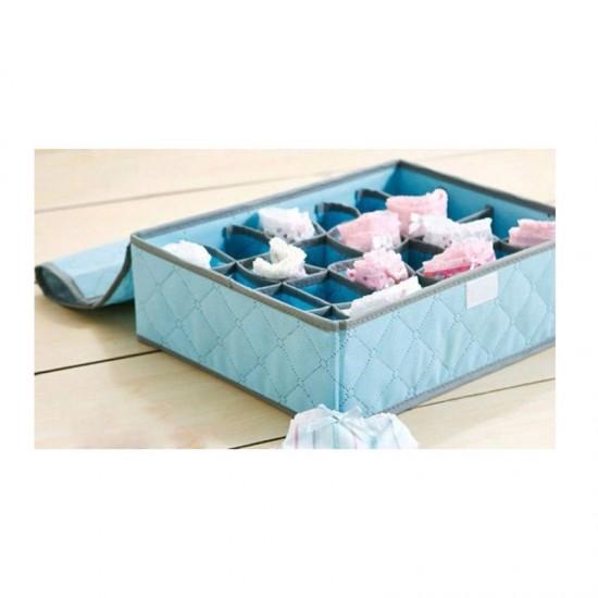 Κουτί Αποθήκευσης για Εσώρουχα και Κάλτσες με 24 Θήκες 36 x 28 x 10 cm Hoppline HOP1000269