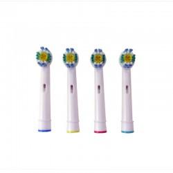 Συμβατά Ανταλλακτικά Βουρτσάκια για Οδοντόβουρτσες Oral-Β 3-D 4 τμχ Hoppline HOP1000277