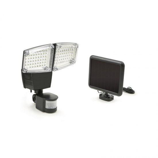 Διπλός Ηλιακός LED Προβολέας 12 W με Ανιχνευτή Κίνησης και Φωτοβολταϊκό Συλλέκτη SPM 40000074