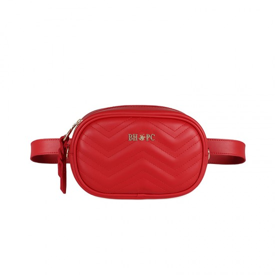 Γυναικεία Τσάντα Μέσης Χρώματος Κόκκινο Beverly Hills Polo Club 610 657BHP0733