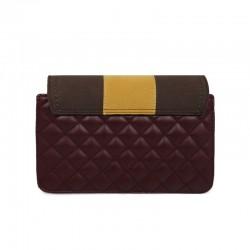 Γυναικεία Τσάντα Ώμου Χρώματος Μπορντό - Καφέ Laura Ashley Monza 651LAS1604