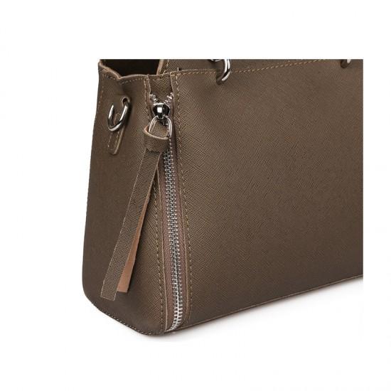 Γυναικεία Τσάντα Χειρός με Μεταλλικές Λαβές Χρώματος Taupe Laura Ashley Norland 651LAS0940