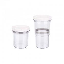 Σετ Πλαστικά Ρυθμιζόμενα Αεροστεγή Δοχεία Τροφίμων 2 τμχ BN5754