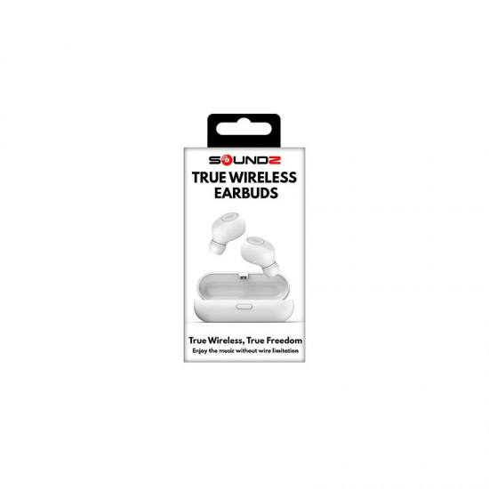 Ασύρματα Στερεοφωνικά Ακουστικά Bluetooth Χρώματος Λευκό SoundZ R161108