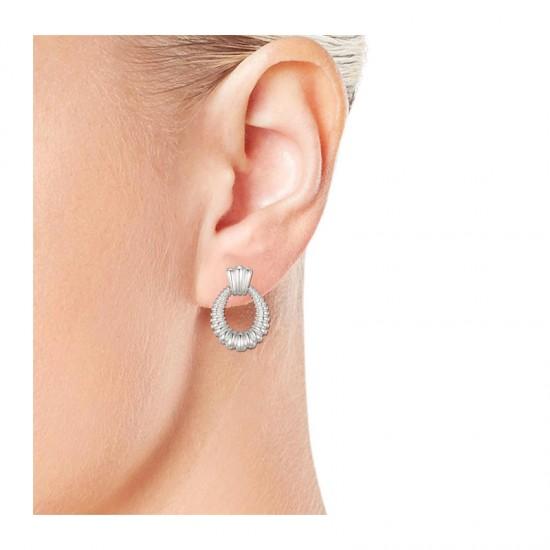 Σκουλαρίκια από Ορείχαλκο Χρώματος Ασημί Philip Jones