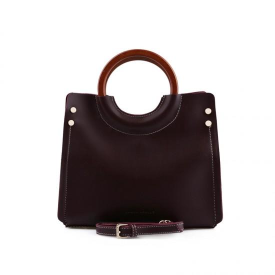 Γυναικεία Τσάντα Χειρός με Λουράκι Χρώματος Μπορντό Laura Ashley Ivy 651LAS0967