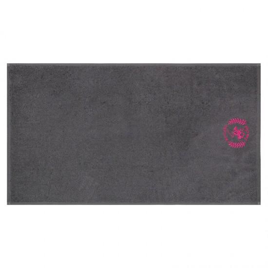Σετ με 2 Πετσέτες Προσώπου 50 x 90 cm Χρώματος Φούξια - Σκούρο Γκρι Beverly Hills Polo Club 355BHP2298
