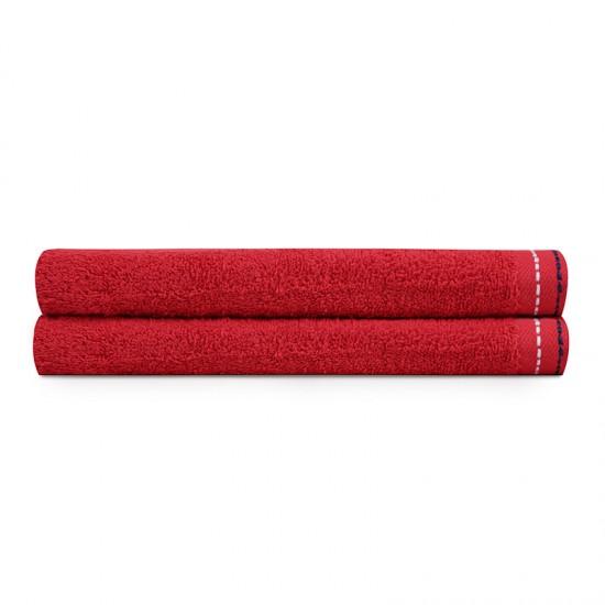 Σετ με 2 Πετσέτες Προσώπου 50 x 90 cm Χρώματος Κόκκινο Beverly Hills Polo Club 355BHP2290