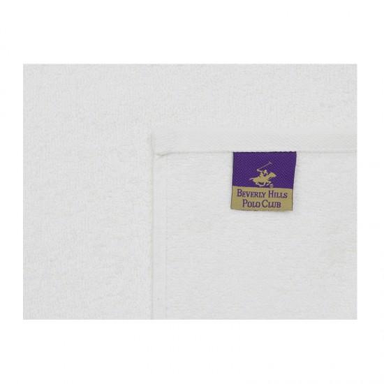 Σετ με 2 Πετσέτες Προσώπου 50 x 90 cm Χρώματος Λευκό Beverly Hills Polo Club 355BHP2289