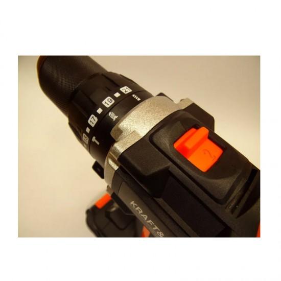 Επαναφορτιζόμενο Κρουστικό Δραπανοκατσάβιδο 18V / 1.5Ah Kraft&Dele KD-1729