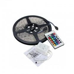 Αυτοκόλλητη Ταινία LED 5 m RGB 5050 12 V με Τηλεχειριστήριο Hoppline HOP1000496