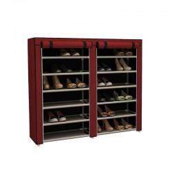 Stand Αποθήκευσης Παπουτσιών με 12 Ράφια 29 x 115 x 109 cm Χρώματος Κόκκινο Hoppline HOP1000975-2