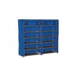 Stand Αποθήκευσης Παπουτσιών με 12 Ράφια 29 x 115 x 109 cm Χρώματος Μπλε Hoppline HOP1000975-4