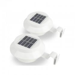 Σετ Ηλιακά Φώτα με LED Φωτισμό 2 τμχ Χρώματος Λευκό Hoppline HOP1000600-2
