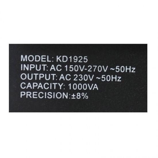 Σταθεροποιητής Τάσης 1000VA 230 V Kraft&Dele KD-1925