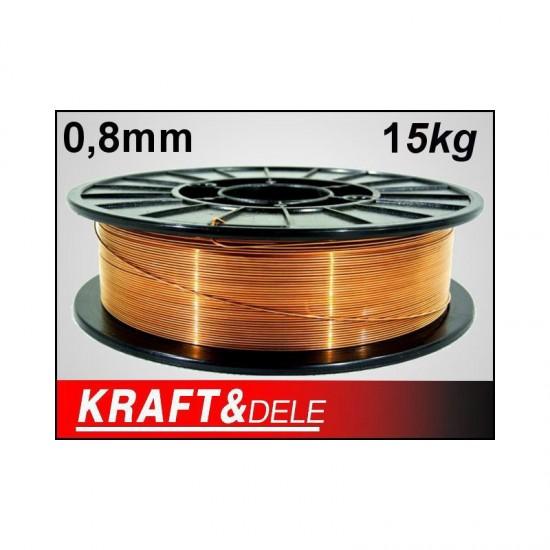Χάλκινο Σύρμα Ηλεκτροσυγκόλλησης 0.8 mm 15 Kg Kraft&Dele KD-1150