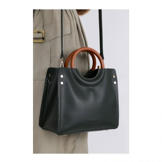 Γυναικεία Τσάντα Χειρός με Λουράκι Χρώματος Πράσινο Laura Ashley Ivy 651LAS0963