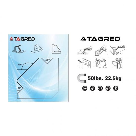 Μαγνητική Γωνία Συγκράτησης Μετάλλων για Ηλεκτροσυγκόλληση έως 22.5 Kg TAGRED TA621