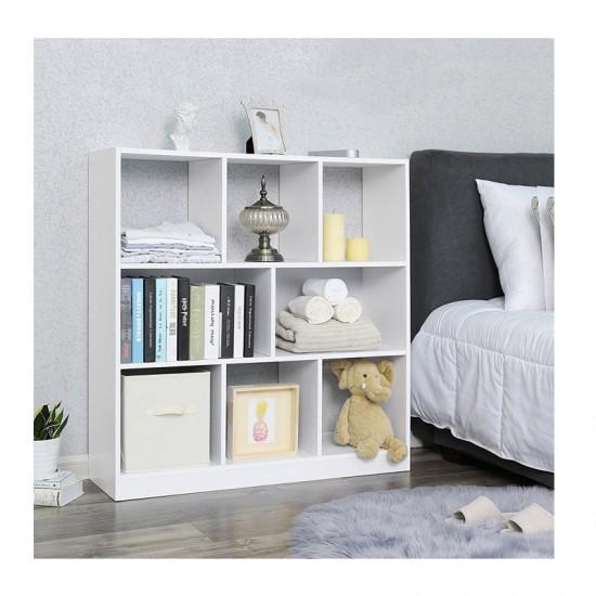 Ξύλινη Βιβλιοθήκη με 8 Ράφια 97.5 x 30 x 100 cm Χρώματος Λευκό VASAGLE LBC52WT