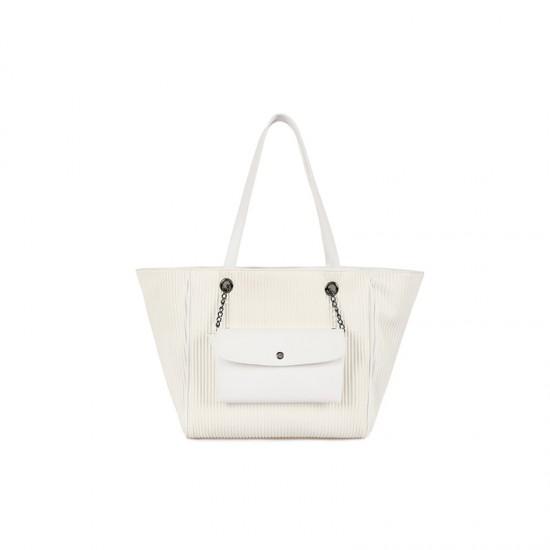 Γυναικεία Τσάντα Χειρός Χρώματος Λευκό Laura Ashley Relief Stick 651LAS1728