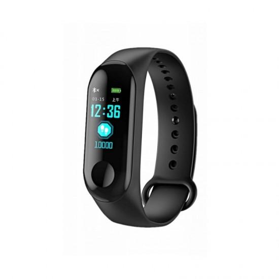 Ρολόι Fitness Tracker με Πιεσόμετρο και Μετρητή Καρδιακών Παλμών Smart Band M3 SPM M3-Smart