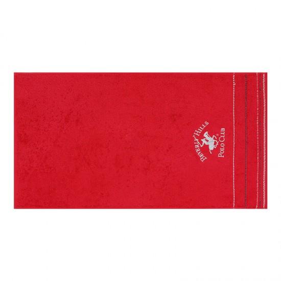 Σετ με 2 Πετσέτες Προσώπου 50 x 90 cm Χρώματος Κόκκινο Beverly Hills Polo Club 355BHP2354