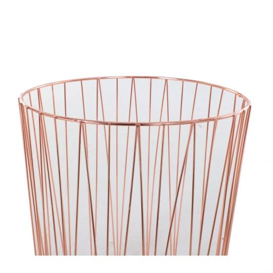 Σετ Βοηθητικά Μεταλλικά Τραπέζια 40.7 x 49.5 cm Χρώματος Ροζ - Χρυσό HOMCOM 833-718V01ND