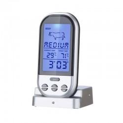 Ψηφιακό Θερμόμετρο Μαγειρικής από Ανοξείδωτο Ατσάλι με Φωτιζόμενη Οθόνη Hoppline HOP1001130