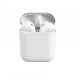Ασύρματα Ακουστικά Bluetooth με Βάση Φόρτισης i12 TWS Χρώματος Λευκό SPM I12-White